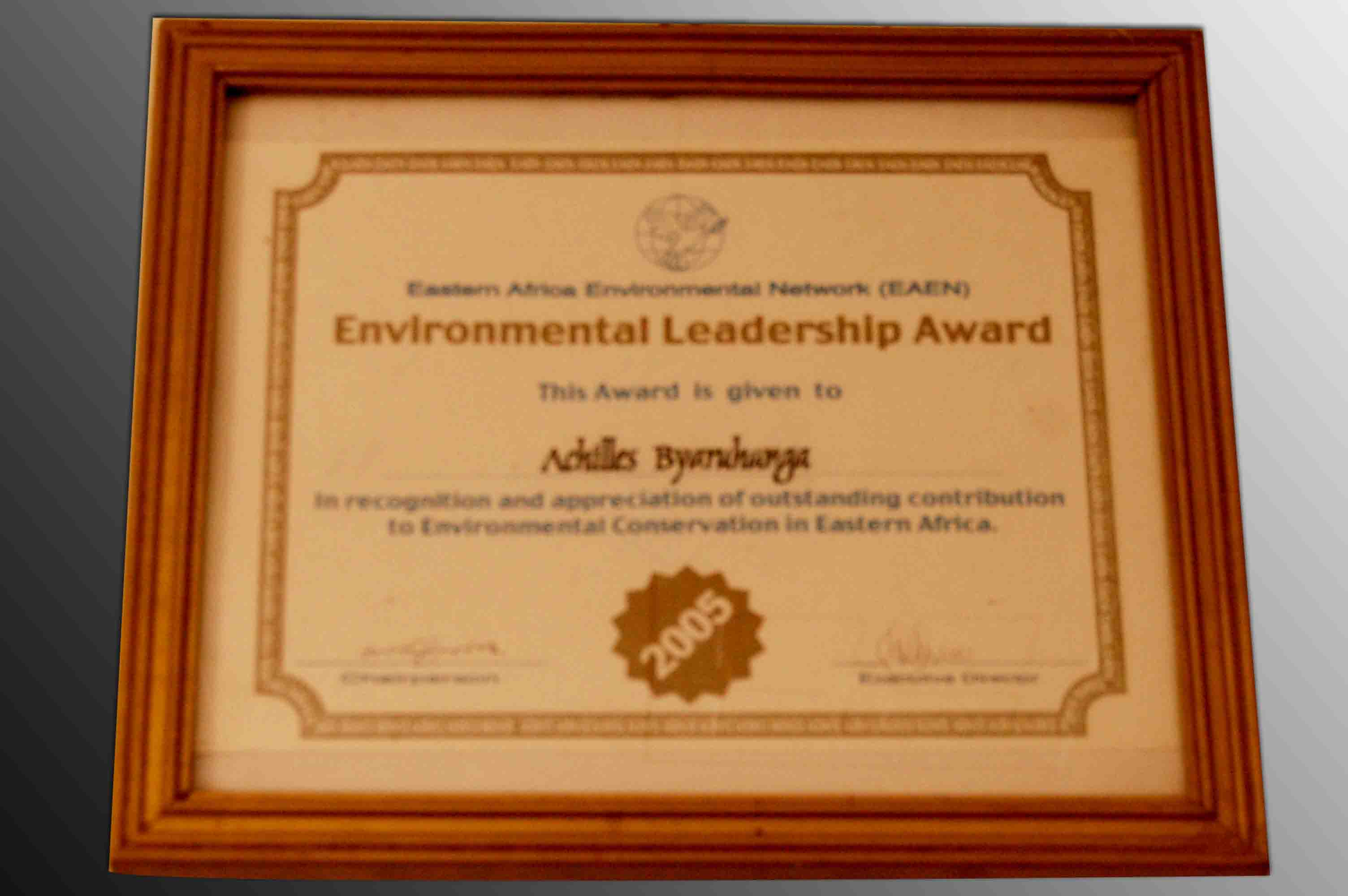Environment Leadership Award NatureUganda