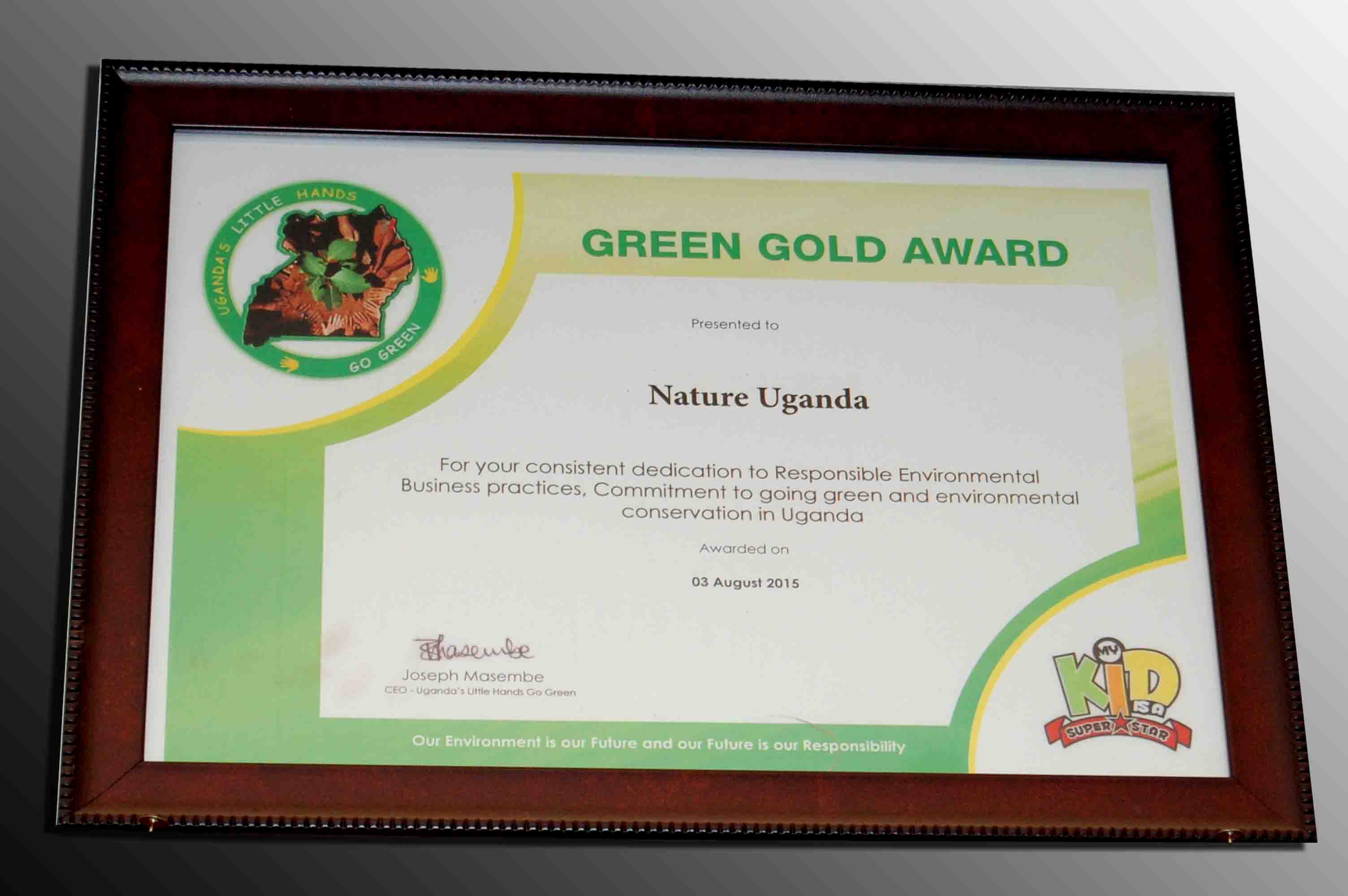 Green Gold Award NatureUganda