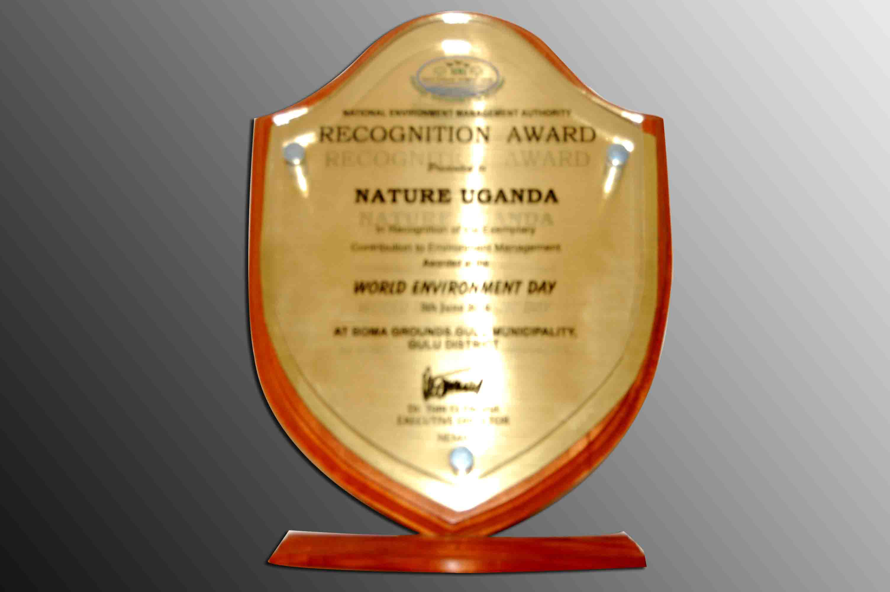 Recognition Award - World Environmet Day