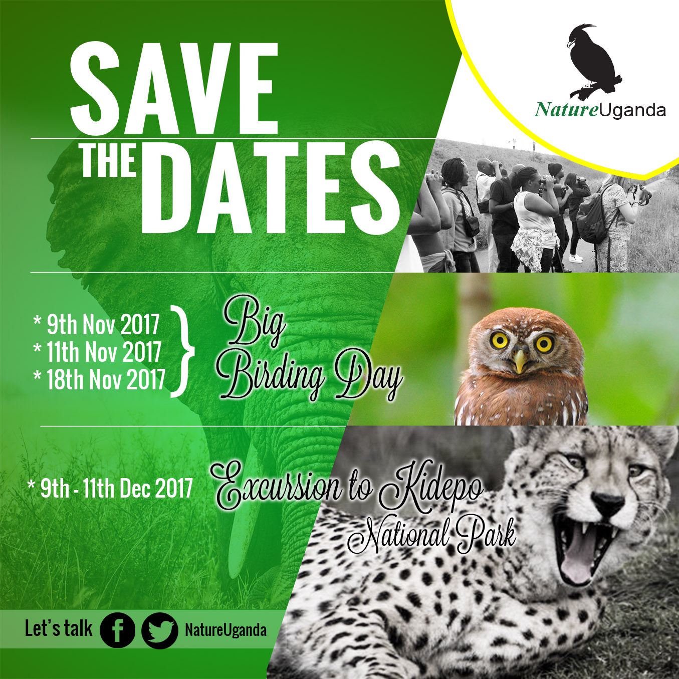 Excursion to Kidepo NP & Big Birding Day 2017