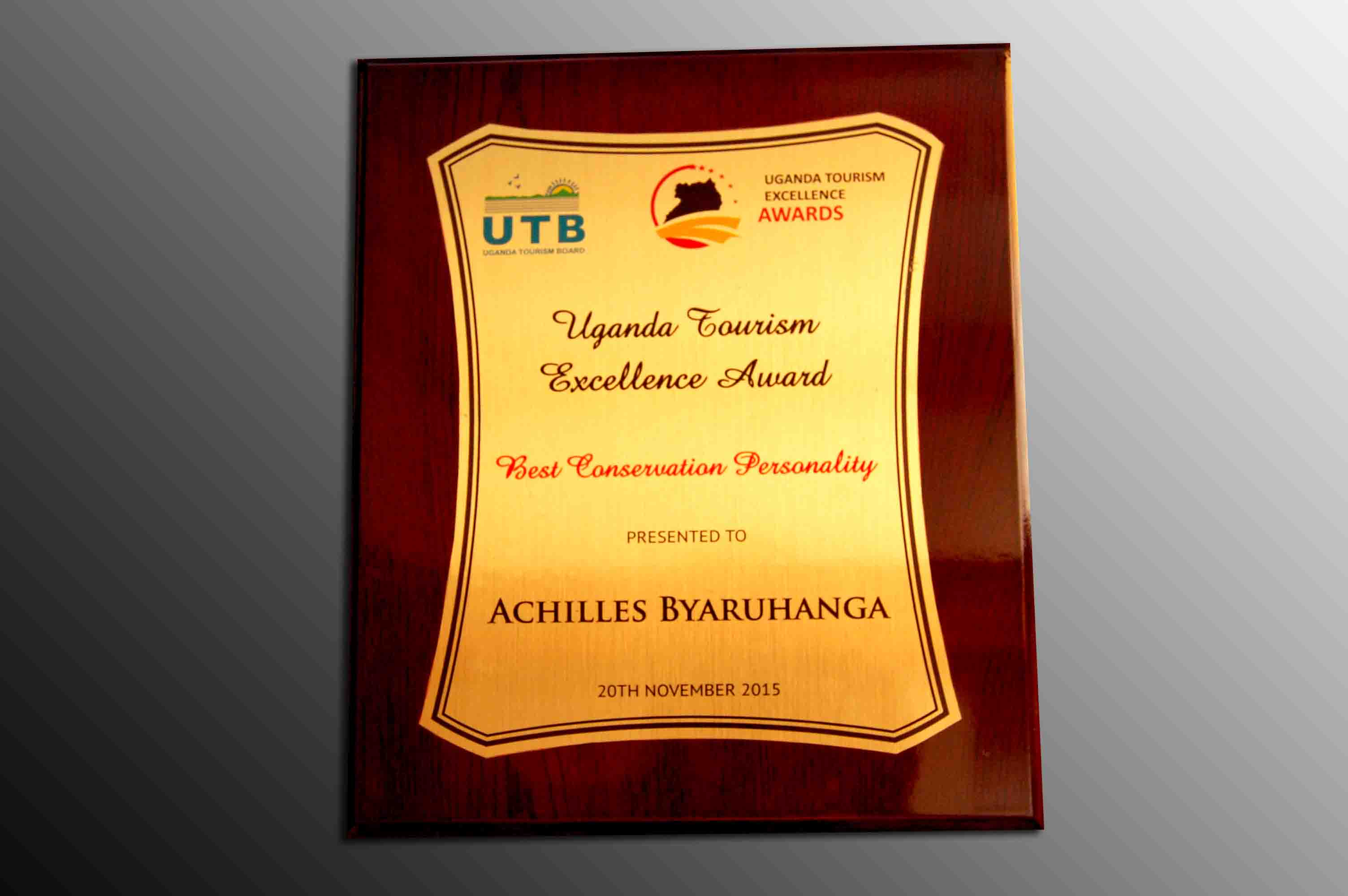 Excellence Award NatureUganda from UTB